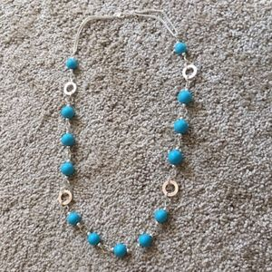 Silver and Blue adjustable Chain Necklace